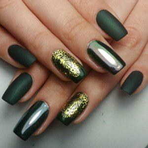 Gelnägel grün matt glänzend